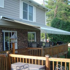 BST ELITE Heavy-duty Manual or Motorized Retractable Awning with PROTECTIVE HOOD