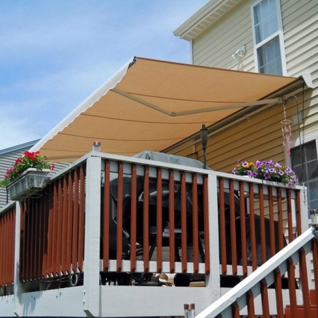 BST ELITE Heavy Duty Manual Or Motorized Retractable Awning With PROTECTIVE HOOD